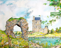 18 ~ Dunguaire Castle and Old Castle Ruins ~ 19x15